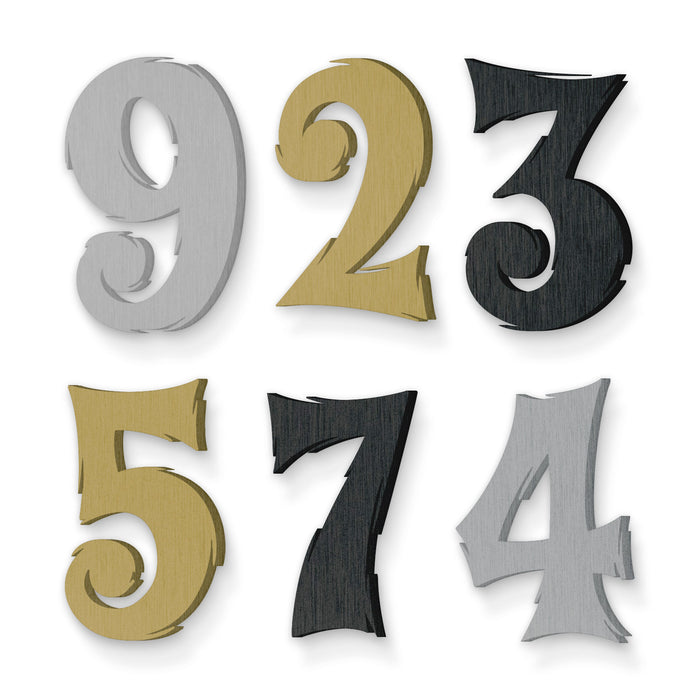 Custom house number font tiki surf
