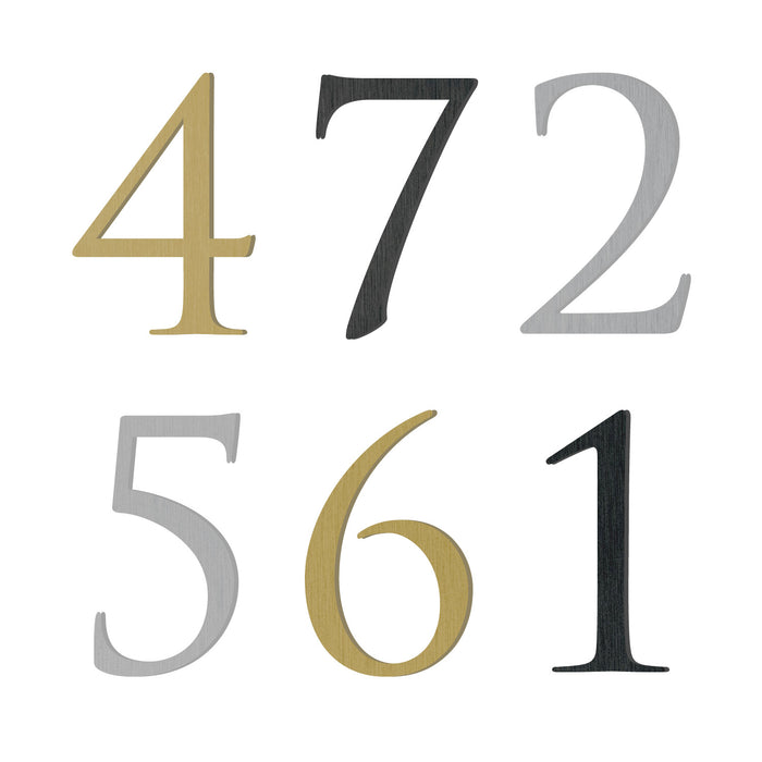 Custom house number font trajan pro