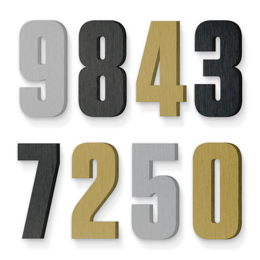 Custom house number font tungsten bold