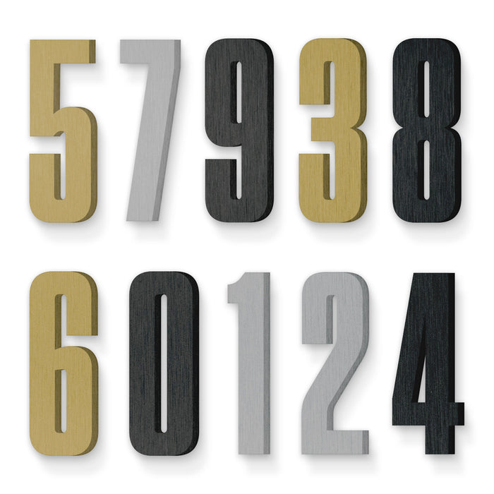 Custom house number font tungsten condensed bold