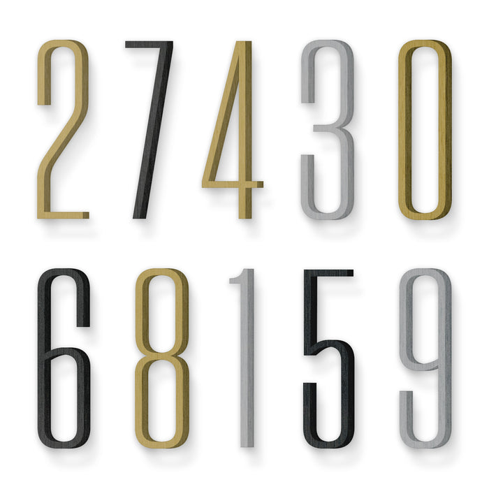 Custom house number font tungsten condensed light