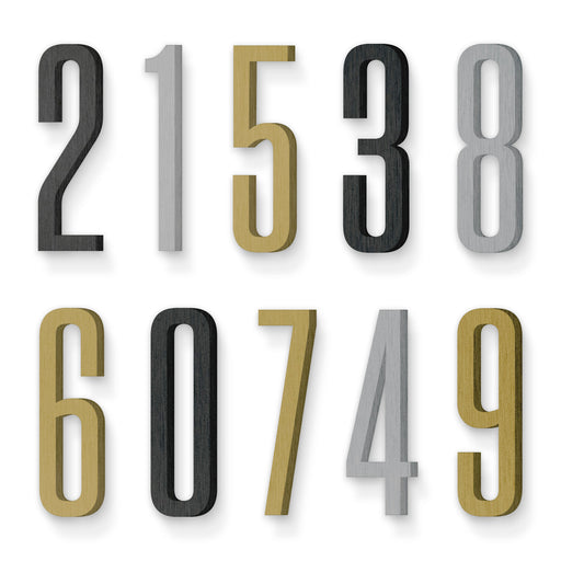 Custom house number font tungsten condensed medium