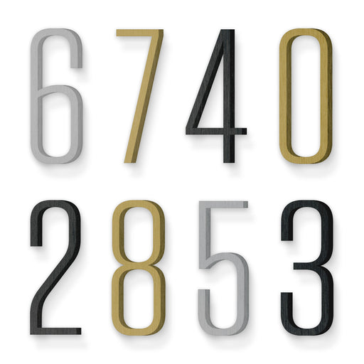 Custom house number font tungsten light