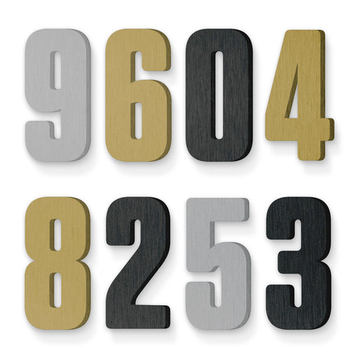 Custom house number font tungsten rounded bold