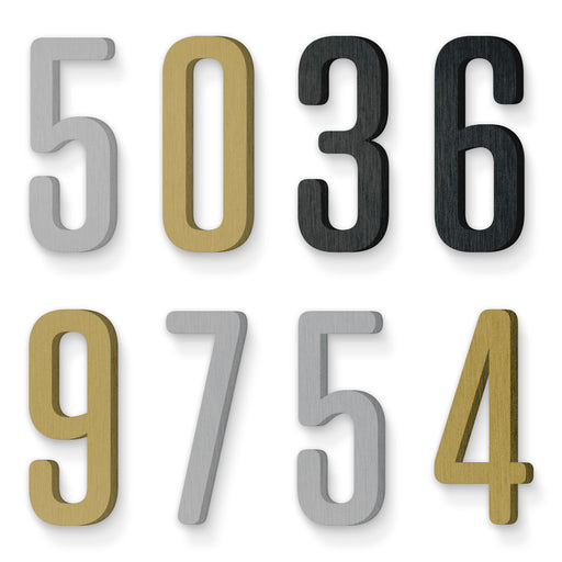 Custom house number font tungsten rounded medium