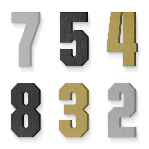 Custom house number font united sans condensed black