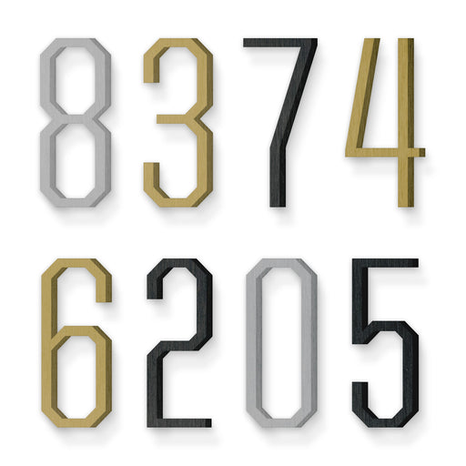 Custom house number font united sans condensed light