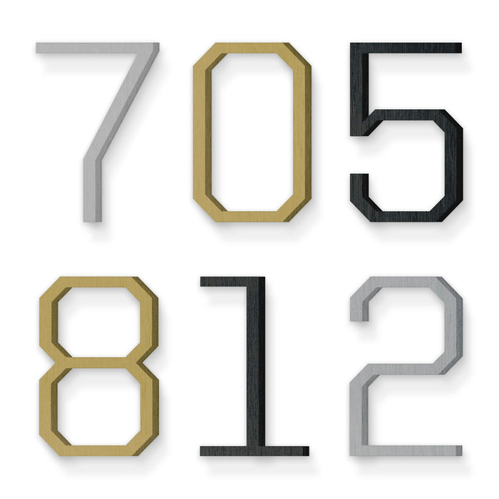 Custom house number font united sans regular light