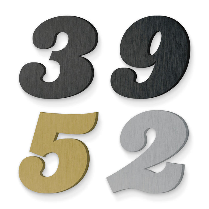 Custom house number font ziggurat black italic