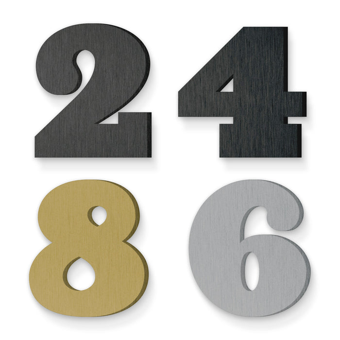 Custom house number font ziggurat black