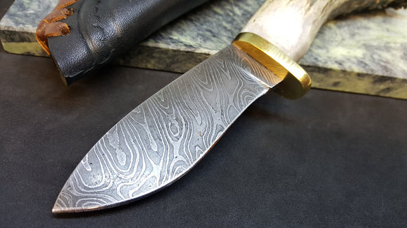 Damascus Fixed Blade Knives