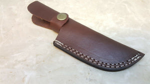 "Leather Belt Sheath for up to 3 3/4"" Fixed Blade Knife Internal Welt"