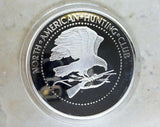 North American NAHC Bison Big Game Super Slam Silver Plate Collector Coin - Big Sky Knife