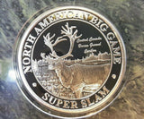 Central Canada Barren Ground Caribou NAFC Grand Slam Silver Plate Collector Coin