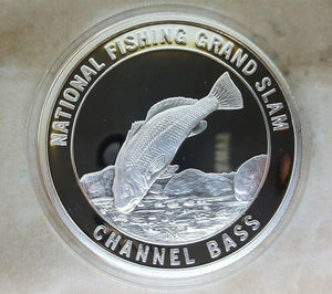 North American Fishing Club Channel Bass Grand Slam Silver Plate Collector Coin