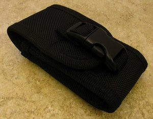 "Black Nylon Carry-All Knife Pouch for Horizontal or Vertical Carry 4"" closed"