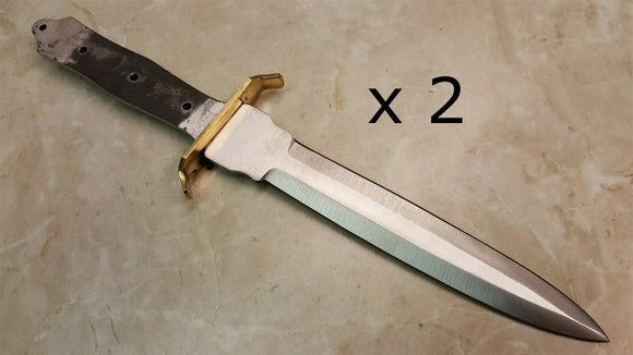 Quantity of Two Knife Blade Blanks for Knife Making Fixed 7