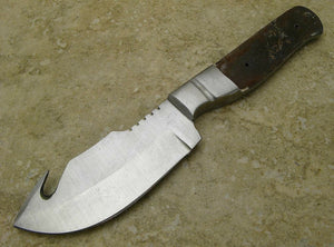 "Knife Making Fixed 3 1/2"" Blade Guthook Blank with Stainless Bolster - Big Sky Knife"