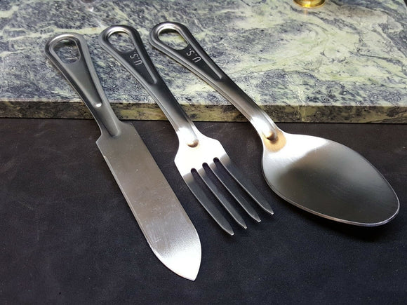 GI Utensil Set Fork Spoon and Knife Mess Kit