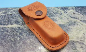 Case Medium Job Leather Knife Sheath For Folding Pocket Knives to 4 1/2""