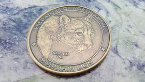 Predators North American Hunting Club Mountain Lion Cougar NAHC Collector Coin - Big Sky Knife