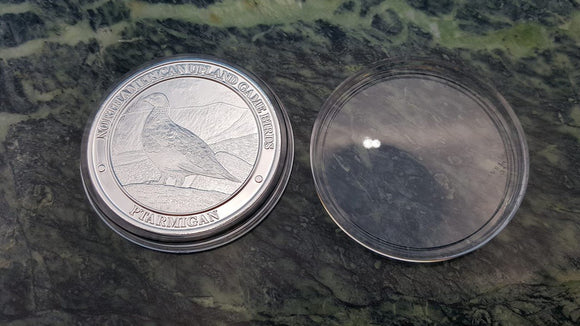 North American Ptarmagin NAHC Upland Game Bird Silver Collector Coin