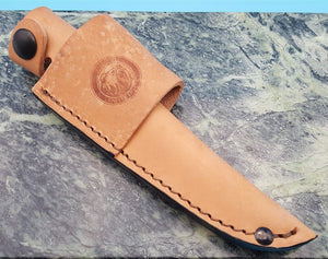 Knives of Alaska Jaeger Leather Fixed Blade Knife Belt Sheath Pouch