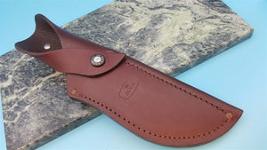 "Buck KALINGA 406 Boone & Crockett Leather Fixed Blade Knife Sheath for 5"" Blade - Big Sky Knife"