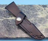 Buck Knives Open Season 543 Caping Caper Leather Fixed Blade Knife Sheath USA