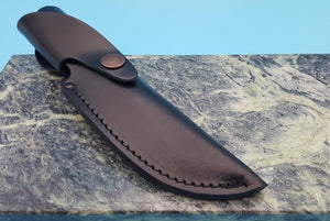 "Case XX Leather Fixed Blade Knife Belt Sheath for up to 5"" blades Knives"