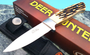 Small Game Hunter Fixed Full Tang Knife with Imitation Stag Handle