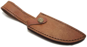 "Leather Fixed Blade Knife Belt Sheath for up to 4.5 "" Blades Hunting Knives etc."