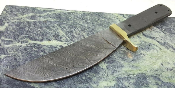 Full Tang Damascus Steel Knife Makers blade blank Deep Thick Belly Skinner DIY - Big Sky Knife
