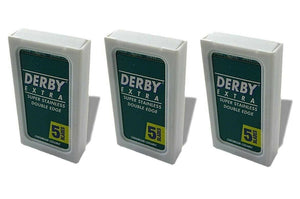 Derby Shavette Straight Razor Blade Three 5 packs =30 blades 4.2 cm safety short - Big Sky Knife