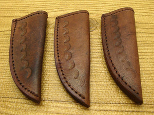 3-PACK of Stamped Leather Sheath for Small Fixed Blade Patch Knife