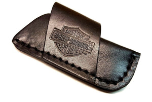 Case XX Harley Davidson Holster Style Side Draw Folding Blade Knife Belt Sheath