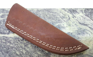 "Leather Belt Sheath for up to 4 to 6"" blade 6 3/4"" overall Patch Knife"