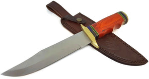 "12"" Bowie Style Fixed Blade Knife w leather Sheath - Big Sky Knife"