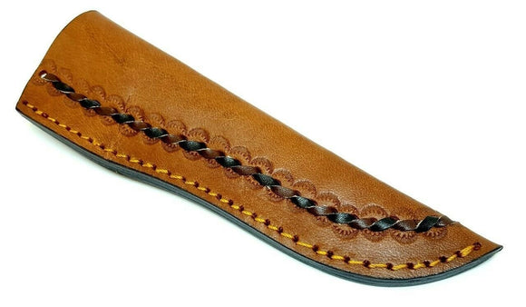 Leather Laced Fixed Blade Knife Belt Sheath for up to 6.5