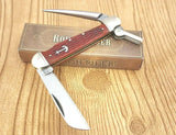Rough Rider Marlin Spike Red Jigged Bone Rigging Sailor Knife - Big Sky Knife