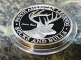 Jordan Buck North American Hunting Club NAHC Bucks and Bulls Silver Coin - Big Sky Knife