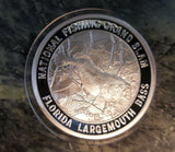 Florida Largemouth Bass North American Fishing Club Grand Slam Silver Plate Coin