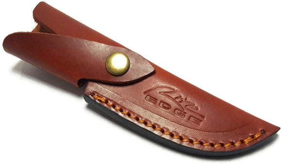 Brown Leather Fixed Blade Knife Belt Sheath For Knives with up to 4