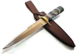 Timber Rattler Raindance Bowie / Fixed Blade Hunting Knife - Big Sky Knife