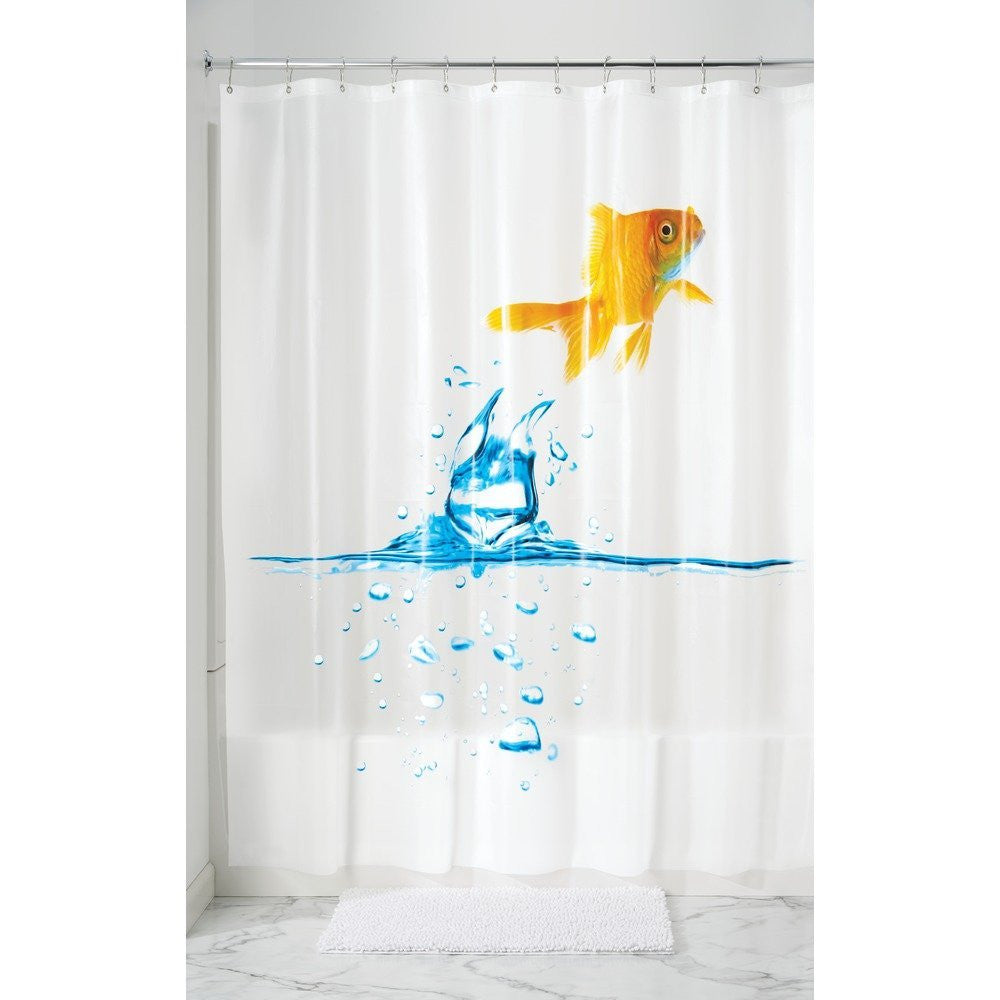 FINN GOLDFISH SHOWER CURTAIN PEVA