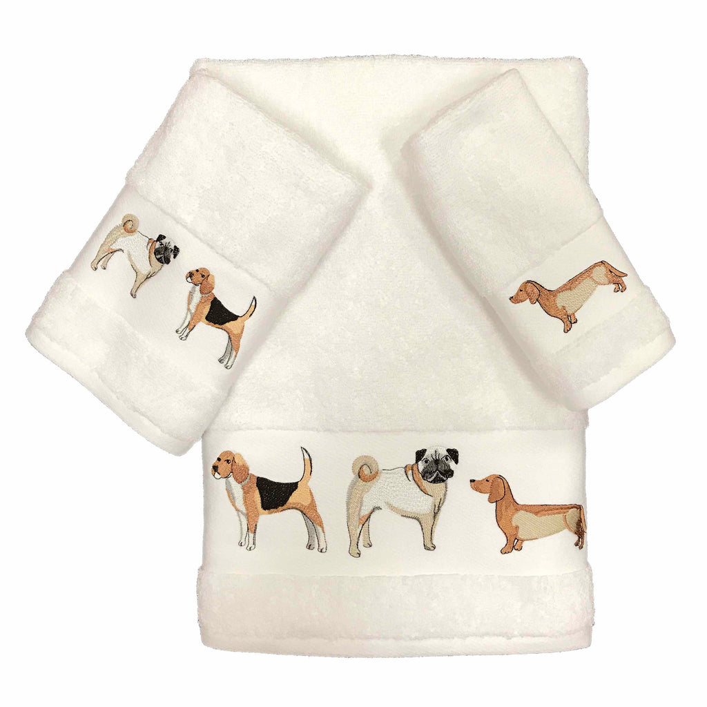 dogs on parada towels
