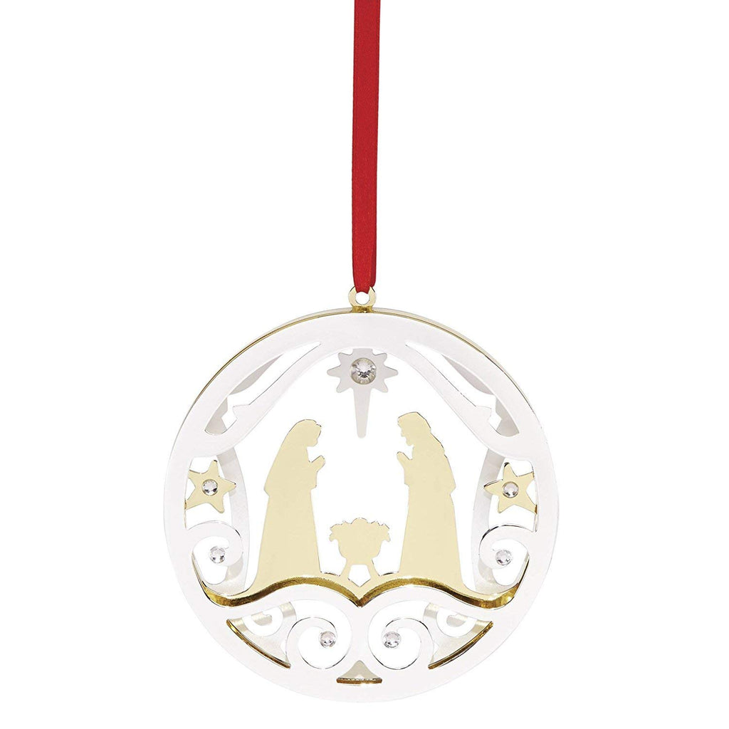 Lenox Stamped Nativity Ornament