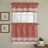 GINGHAM STITCH KITCHEN CURTAIN