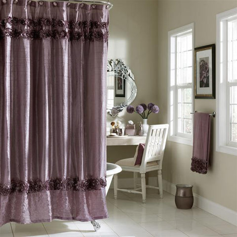 CROSCILL HOME FASHIONS Graduated Roses Shower Curtain
