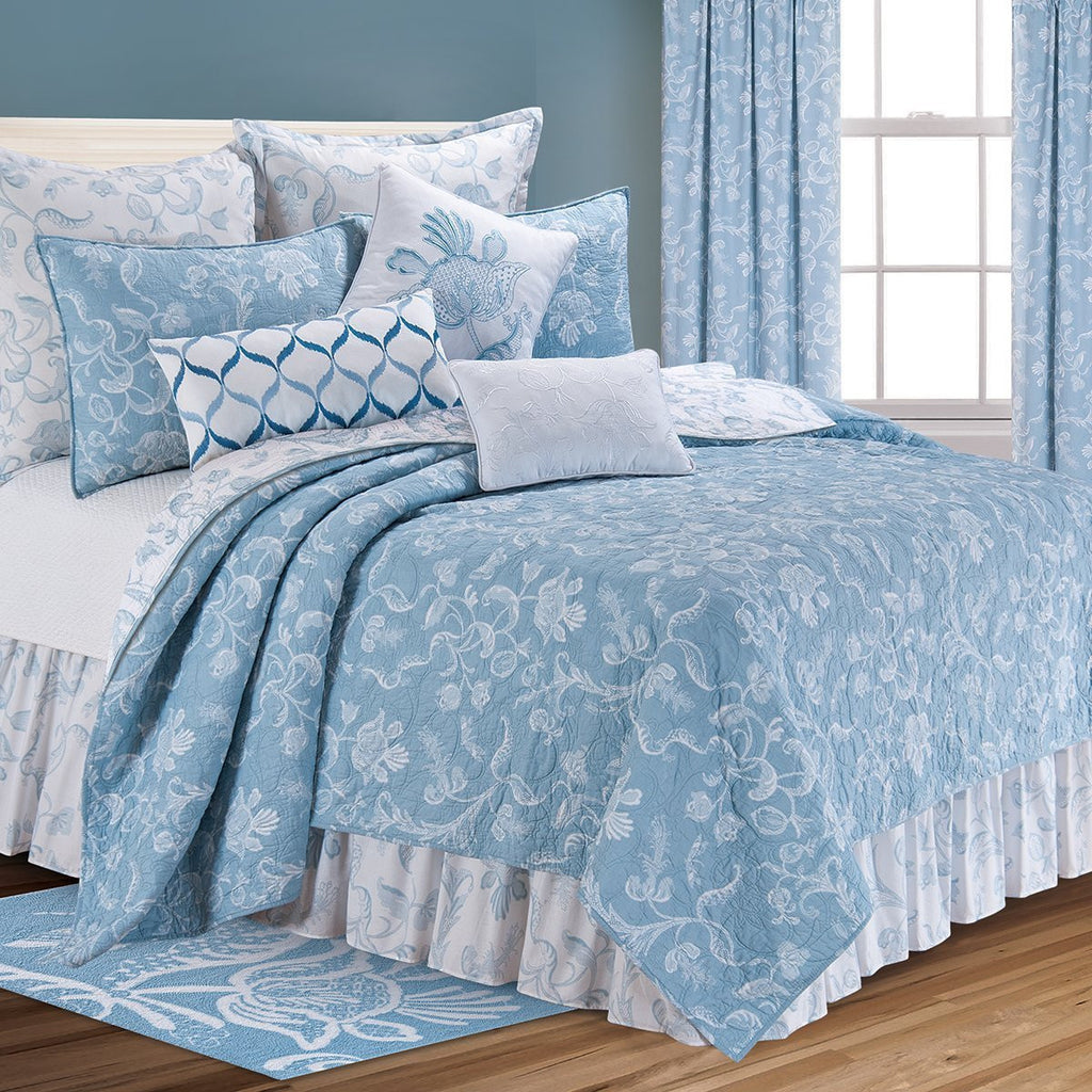 ELIZA QUILT BLUE SHAME TWIN F/Q KING